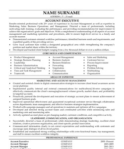 Resume for Account Executive
