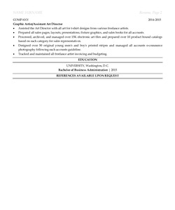 Resume Example for Art Director