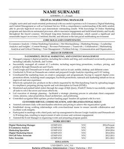 Resume for Digital Marketing Manager