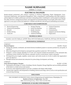 Resume for Electrical Engineer