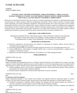 Resume Example for Structural Engineer